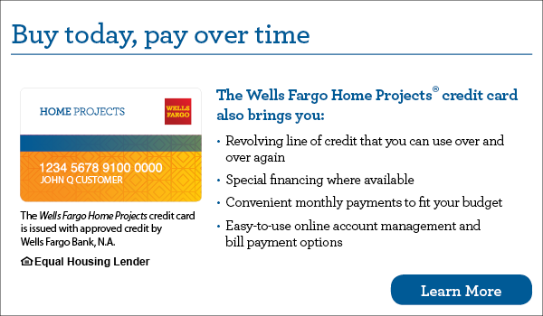 Wells Fargo Home Projects credit card offer